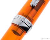 Sailor Professional Gear Slim Fountain Pen - Transparent Orange with Rhodium Trim - Cap Band