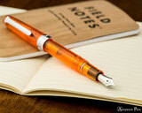 Sailor Professional Gear Slim Fountain Pen - Transparent Orange with Rhodium Trim - Posted on Field Notes