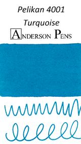Pelikan 4001 Turquoise Ink Color Swab