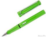 Lamy Safari Fountain Pen - Green - Open