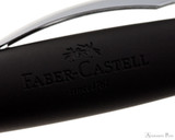 Faber-Castell Essentio Black Leather Fountain Pen - Cap Imprint