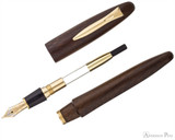Platinum Izumo Fountain Pen - Bombay Black Wood Tagayasan Matte - Parted Out
