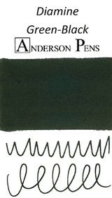 Diamine Green-Black Ink Color Swab