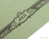 APICA CD15 Notebook - B5, Lined - Green scroll