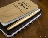 Pilot Metropolitan Fountain Pen - Gold Plain - On Notebook