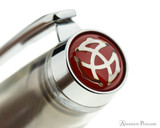 TWSBI Mini AL Fountain Pen - Silver - Cap Jewel