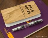 TWSBI Mini AL Fountain Pen - Silver - Closed on Rhodia