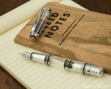 TWSBI Mini AL Fountain Pen - Silver - Open on Field Notes