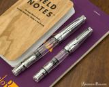TWSBI Mini AL Fountain Pen - Silver - Comparison on Notebook