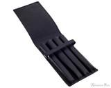 Girologio 4 Pen Case - Black Leather - Open