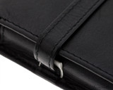 Girologio 4 Pen Case - Black Leather - Loop and Stitching