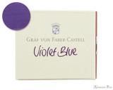 Graf von Faber-Castell Violet Blue Ink Cartridges (6 Pack)