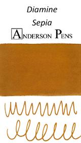 Diamine Sepia Ink Color Swab