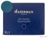 Waterman Mysterious Blue Ink Long Cartridges (8 Pack)