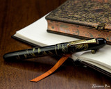 Namiki Chinkin Fountain Pen - Rooster - Closed on Notebook