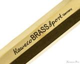 Kaweco Brass Sport Fountain Pen - Raw Brass - Imprint