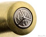 Kaweco Brass Sport Fountain Pen - Raw Brass - Cap Jewel