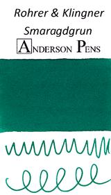 Rohrer & Klingner Smaragdgrun Green Ink Sample (3ml Vial)
