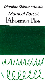 Diamine Shimmertastic Magical Forest Ink Color Swab