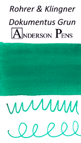 Rohrer & Klingner Dokumentus Grun Ink Color Swab