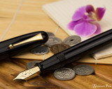 Namiki Emperor Fountain Pen - Black Urushi - Open Beauty