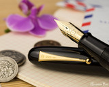 Namiki Emperor Fountain Pen - Black Urushi - Nib and Cap Beauty