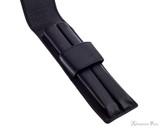 Girologio 2 Pen Case - Black Leather - Open