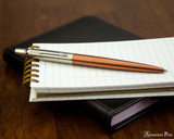 Parker Jotter Ballpoint - Chelsea Orange - Open on Notebook