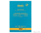 Rhodia No. 16 Premium Notepad - A5, Lined - Turquoise back cover
