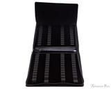Girologio 48 Pen Case - Black Leather - Open Full