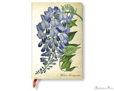 Paperblanks Mini Journal - Painted Botanicals Blooming Wisteria, Blank