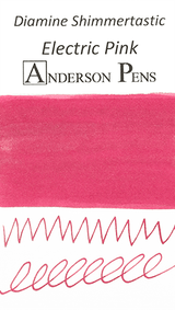 Diamine Shimmertastic Electric Pink Ink Color Swab