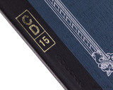 APICA CD15 Notebook - B5, Lined - Navy binding detail