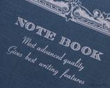 APICA CD15 Notebook - B5, Lined - Navy logo