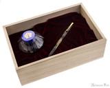Namiki Yukari Maki-e Fountain Pen - Herb Decoration - Box Open