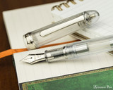 Platinum 3776 Century Fountain Pen - Nice Pur - Open on Notebook