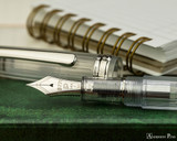 Platinum 3776 Century Fountain Pen - Nice Pur - Nib on Notebook
