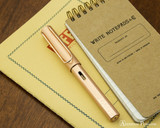 Lamy LX Fountain Pen - Rose Gold - On Notebook