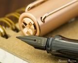 Lamy LX Fountain Pen - Rose Gold - On Notebook Nib