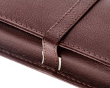 Girologio 3 Pen Case - Brown Leather - Loop and Stitching