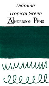 Diamine Tropical Green Ink Color Swab