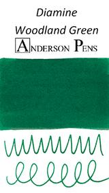 Diamine Woodland Green Ink Color Swab
