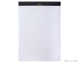 Rhodia No. 18 Staplebound Notepad - A4, Graph - Black open