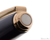 Sheaffer Prelude Fountain Pen - Cobalt Blue Lacquer with Rose Gold Trim - Cap Jewel