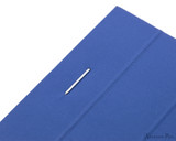 Rhodia No. 16 Premium Notepad - A5, Lined - Sapphire staple detail