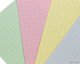 Exacompta Index Cards - 4 x 6, Graph - Assorted Colors color closeup