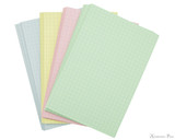 Exacompta Index Cards - 4 x 6, Graph - Assorted Colors 4 colors