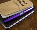 Pilot Metropolitan Fountain Pen - Retro Pop Purple - Closed on Notebook