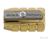Mobius and Ruppert Brass Pencil Sharpener - Grenade, Single Hole - Blade