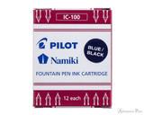Pilot Namiki Blue-Black Ink Cartridges (12 Pack)